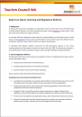 TCWA 2014 Report on Liquor Licencing and Regulatory Reforms