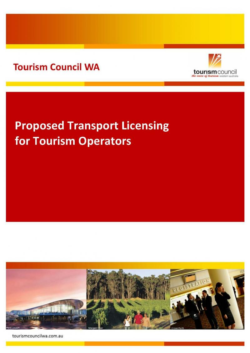 Proposed Transport Licensing for Tourism Operators