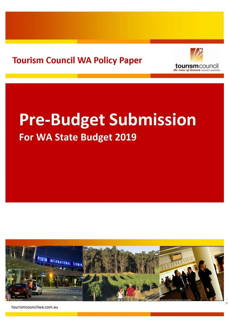 Pre-Budget Submission for WA State Budget 2019