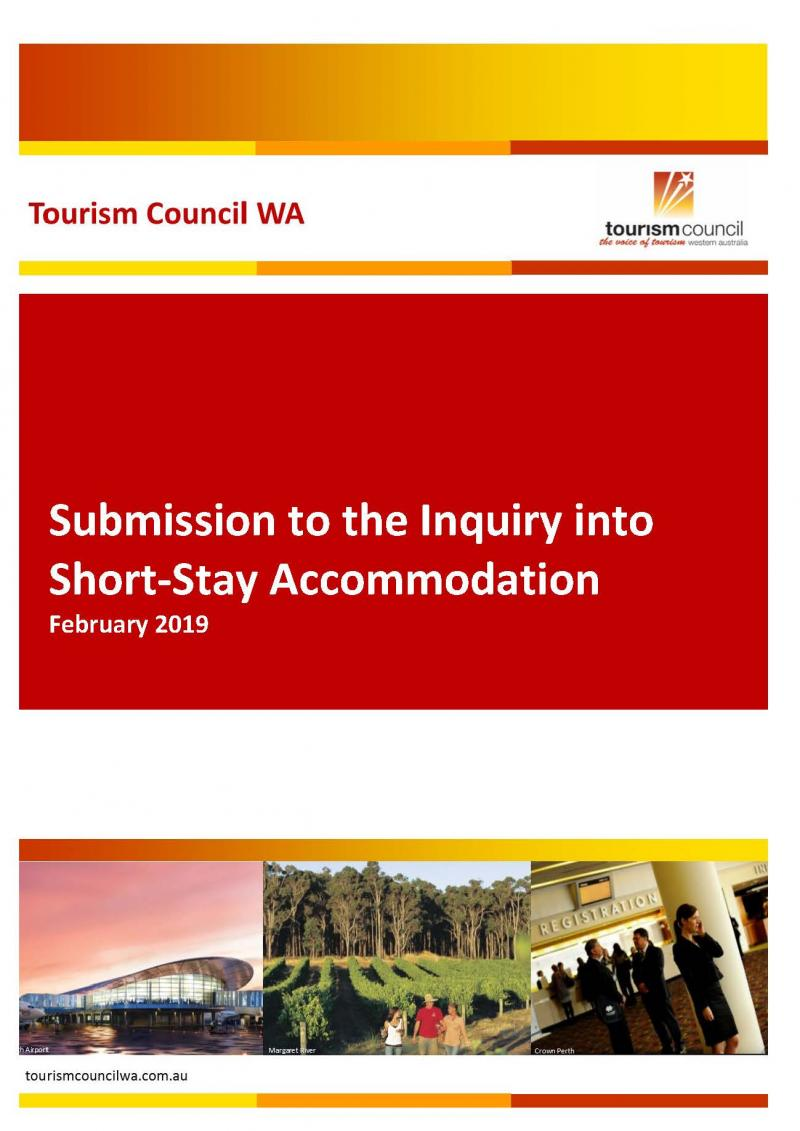 Submission to the Inquiry into Short-Stay Accommodation