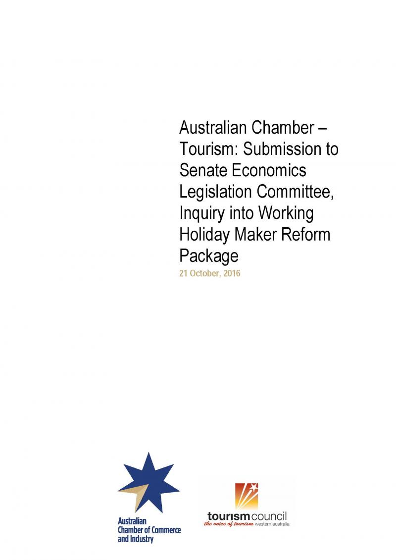 Submission to Senate Economics Legislation Committee, Inquiry into Working Holiday Maker Reform Package