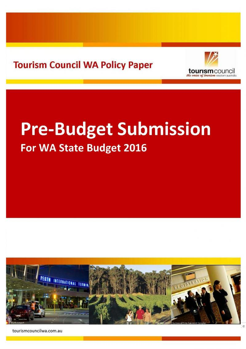 Pre-Budget Submission for WA State Budget 2016