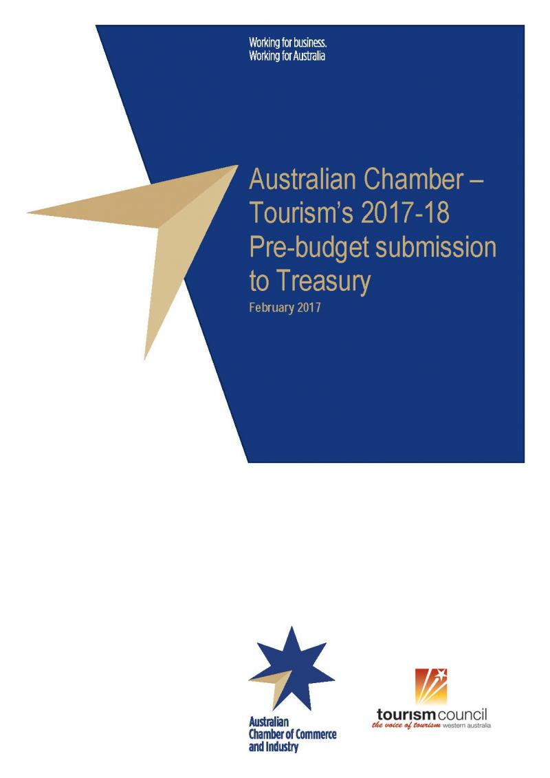 Tourism's 2017-18 Pre-Budget Submission to Treasury