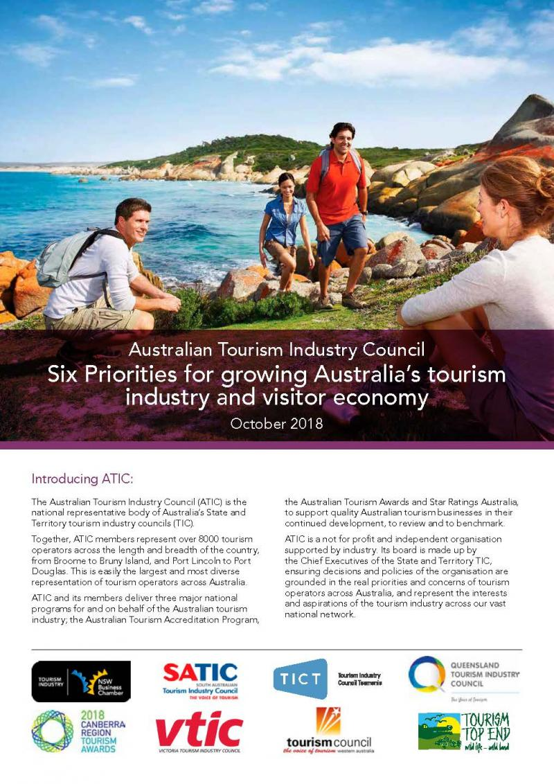 Six Priorities for Growing Australia's Tourism Industry and Vistor Economy