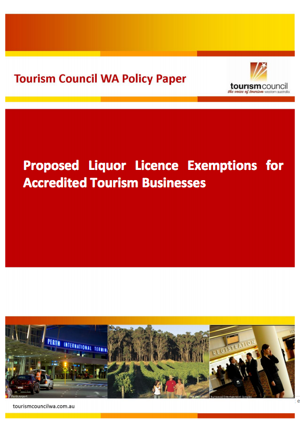 Proposed Liquor Licence Exemptions for Accredited Tourism Businesses