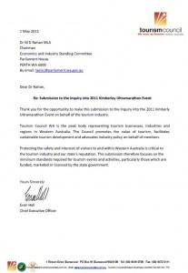 Submission to Parliamentary Inquiry into the 2011 Kimberley Ultramarathon